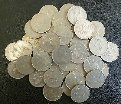 Bulk Lot Of 40 Clean Large Size UK 10p Coins For Slot Machines etc
