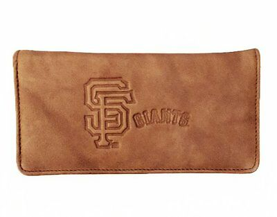 San Francisco Giants MLB Embossed Genuine Cowhide Leather Checkbook Cover New