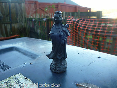 Beautiful Chinese Bronze  Figure  of Guanyin Standing In Long Robes