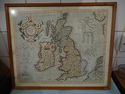 The British Isles from Mercator's 'Atlas or Meditations of a Cosmographer Map