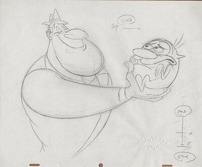REN & STIMPY Production Cel Original Drawing Layout COA Animation Art To Salve