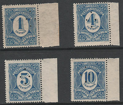 Mexico 4019 - 1908 P)STAGE DUE proofs (4 vals) ex Bradbury Wilkinson archives