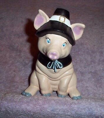 """Ceramic Pig 5"""" Tall Hand Painted FOR THE PIG COLLECTOR"""