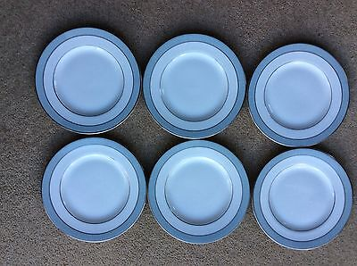 Six Royal Doulton Etude Fine Bone China Side Plates