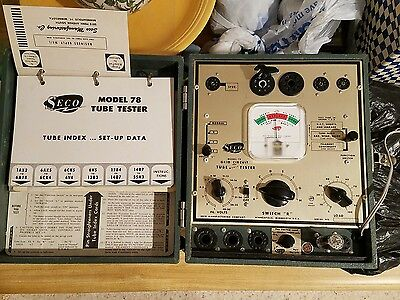 VINTAGE SECO MODEL 78 TUBE TESTER With Manuals IN GOOD CONDITION!