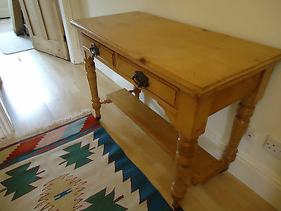 Antique Pine Wash Stand with 2 drawers