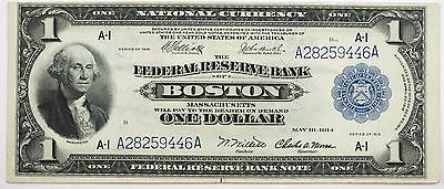 1918 $1 Federal Reserve Note Boston Crisp Ch. AU Stunning Note! A28259446A