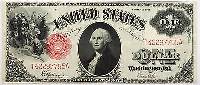 1917 $1 United States Legal Tender Extra Fine XF! Bold Print & Sharp Note!