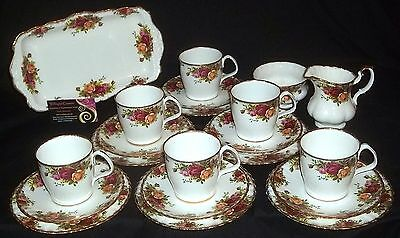 Royal Albert OLD COUNTRY ROSES 21 Piece Coffee / Tea Set