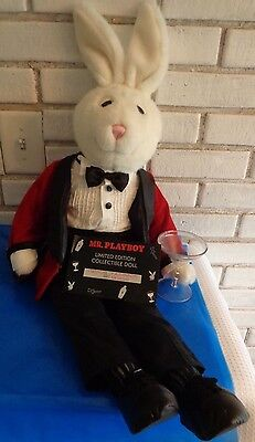 "Mr Playboy 32"" vintage plush doll 1999 PEII Limited Edition 4322/30,000"