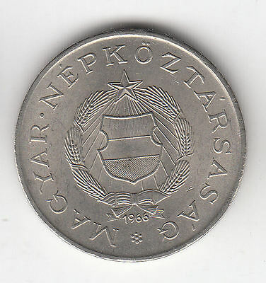 Hungary 2 Forint 1966 Shield Ef+     6D          By Coinmountain