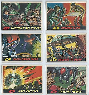 1962 Topps Mars Attacks! #19, 20, 37, 45, 47 & 54  Lot Of 6 Cards