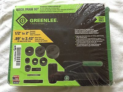"""Greenlee 7906SB 90˚ Quick Draw Hydraulic Punch Driver Kit, 1/2"""" to 2"""", NEW!"""