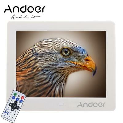 """Andoer 8"""" HD High Resolution Digital Photo Picture Frame MP4 Movie Player I3K1"""