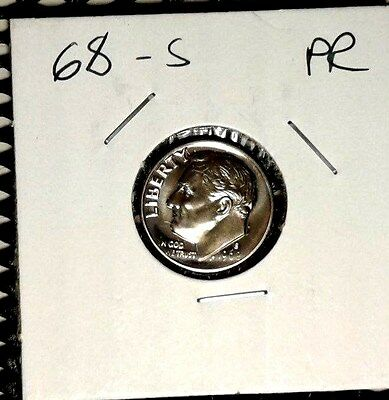 1968  Proof  Roosevelt  Dime Great  proof  Coin  Nice Coin  Free Shipping