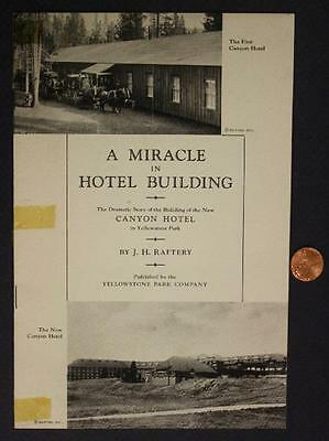 1910-60 Yellowstone National Park Canyon Hotel Pictorial History Booklet-SCARCE!
