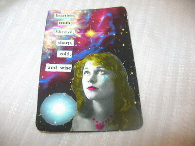 LOST LOVE ACEO ATC Art Card Collage Original HEARTLESS TRUTH  ALTERED ART ~