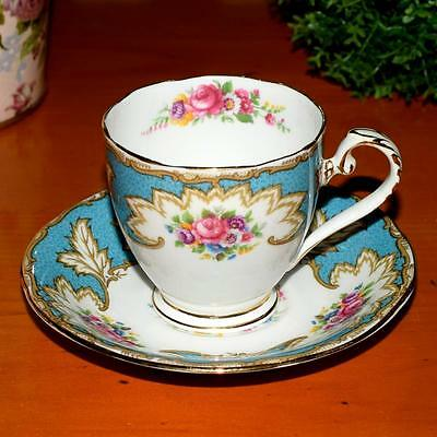 * Delightful Royal Grafton Demitasse ACADEMY Cup and Saucer Duo.