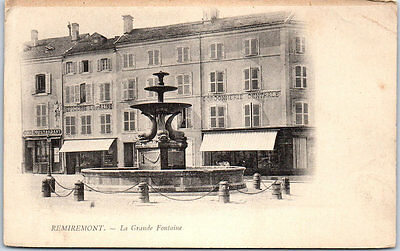 88 REMIREMONT - la grande fontaine.