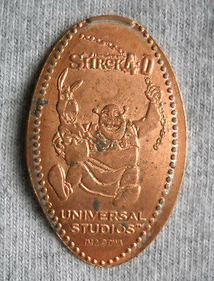 Universal Studios elongated penny USA cent Shrek 4-D souvenir coin