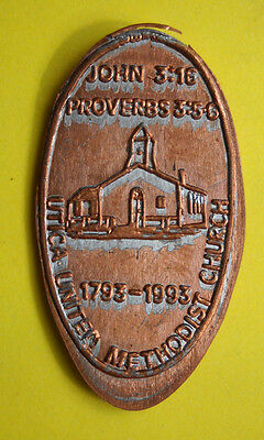 Utica United Methodist Church elongated penny Michigan USA cent souvenir coin