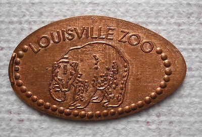 Louisville Zoo elongated penny Kentucky USA cent Black Bear souvenir coin