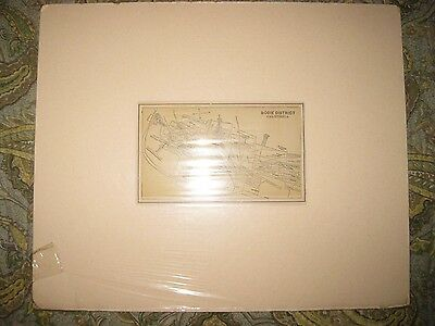 Antique 1882 Bodie District California Gold Mining Mine Map Ghost Town Detailed