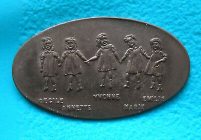Dionne Quintuplets elongated penny USA cent vintage design Canada souvenir coin
