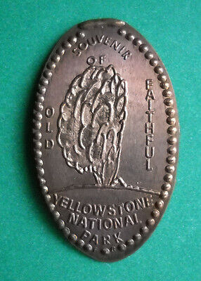 Yellowstone National Park elongated penny USA cent Old Faithful souvenir coin