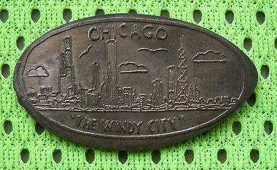 Chicago IL elongated penny Illinois USA cent The Windy City souvenir coin