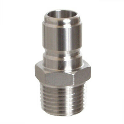 "1/2"" NPT Stainless Steel Male Quick Disconnect 304 Stainless Steel Homebrew"