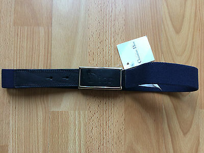 Nwt ***real*** Christian Dior Navy Logo Belt - 8A