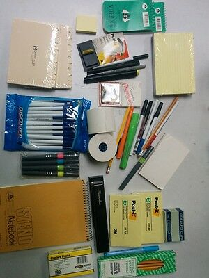 STATIONARY LOT Post-it Gem Oxford Swingline stapler pens pencils markers