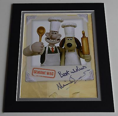 Nick Park Signed Autograph 10x8 photo display Wallace & Gromit TV AFTAL & COA