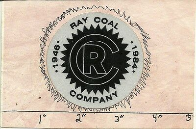 """Ray Coal Company  (Ky) - Hard Hat- Coal Mining Sticker-Decal """"old"""""""