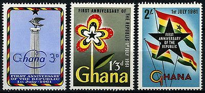Ghana 1961 SG#262-4, 1st Anniv Of Republic MNH Set #D34557