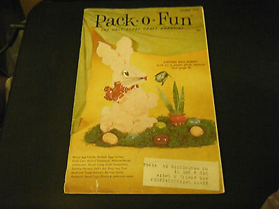 Vintage Pack-o-Fun Scrap-Craft Magazine - March 1970