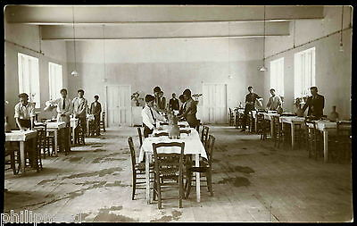 STUDENTS DRINKING WATER c1920 M. FEVZI RP LEFKOSA CYPRUS [A470