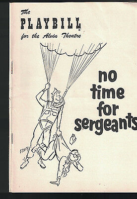 No Time for Sergeants Playbill August 27 1956 Don Knotts Van Williams