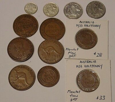 Group of varieties and errors incl 1933/2 overdate penny.
