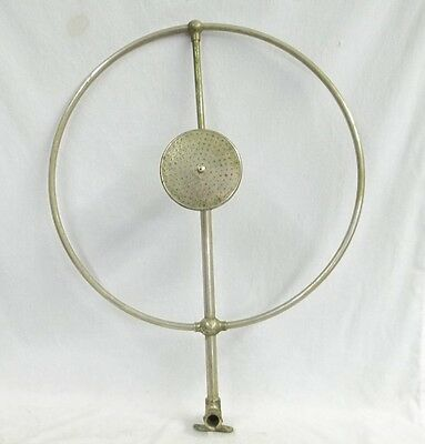 Antique Claw Foot Bath Tub Shower Ring W/ Sprinkler Head Pat Aug 17 1909