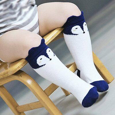 Toddler  Long Socks Cotton Blend Soft Warm Anti-slip Knee Socks White 0-1 Y