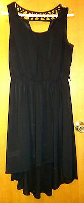 Women's Black  By & By Dress Size M Lined w/ Semi-Sheer Overlay