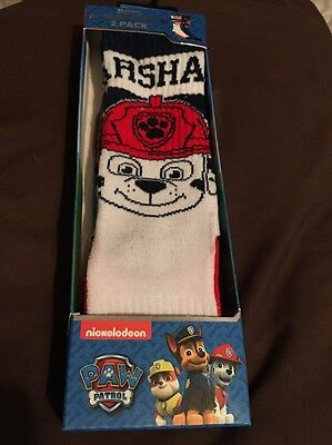 New 2pk Boys Athletic Crew Socks  Shoe Size 10.5-4  Paw Patrol