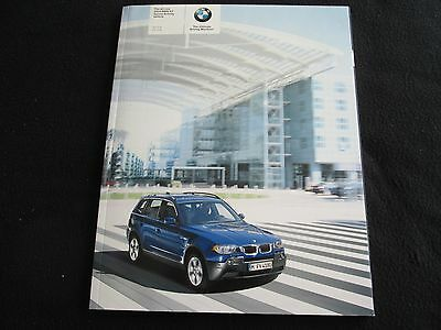 2004 BMW X3 Deluxe Brochure 2.5i 3.0i V6 X 3 US Catalog