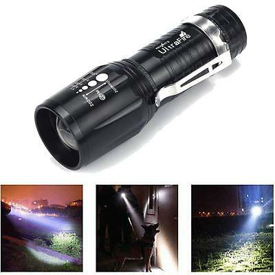 2200 Lumens CREE XM-L T6 LED Flashlight High Power Torch Light Zoomable NICE