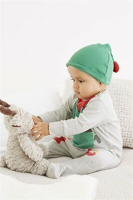 New! Next! Baby Christmas girls or boys sleepsuits  babygrows and hat 3-6 months