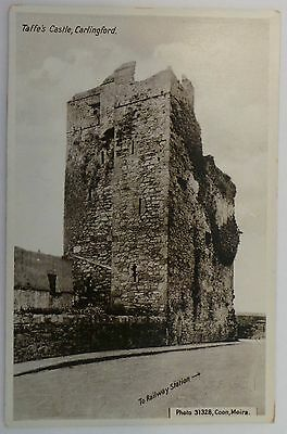 Postcard C.1910 Real Photo - Taffe's Castle, Carlingford 'to Railway Station'