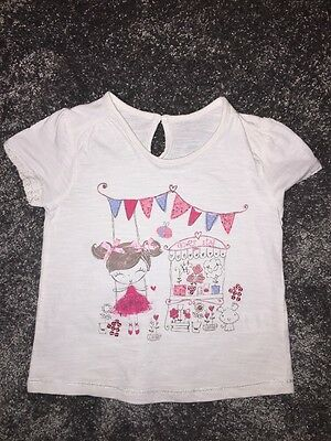 Baby Girls T-Shirt By Matalan Age 12-18 Months