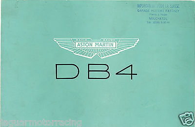 Aston Martin Db4  Brochure